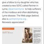 Image for the Tweet beginning: Chronic #Lyme activist starts non-profit