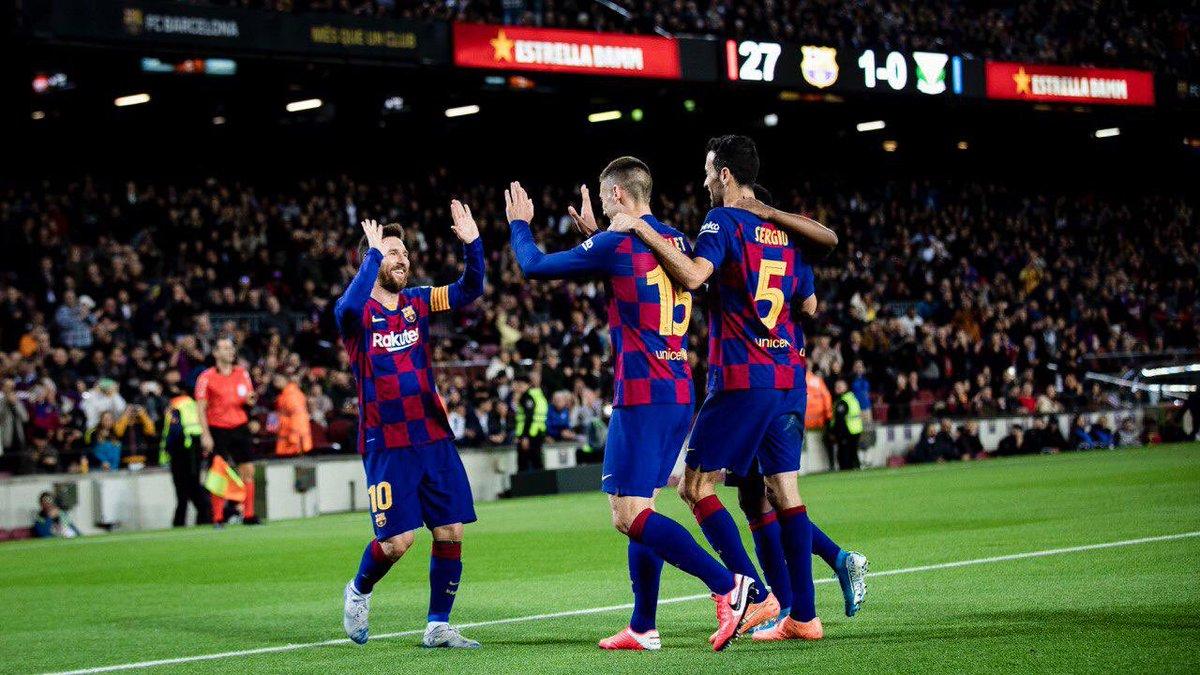 Nos buteurs cette saison ⚽ : @AntoGriezmann ✅  @DeJongFrenkie21 ✅ @SergiRoberto10 ✅ @5sergiob ✅ #Messi ✅ @kingarturo23 ✅ @clement_lenglet ✅ @LuisSuarez9 ✅ @JordiAlba ✅ @ANSUFATI ✅ @arthurhromelo ✅ @JuniorFirpo03 ✅ C.Pérez ✅ @Dembouz ✅