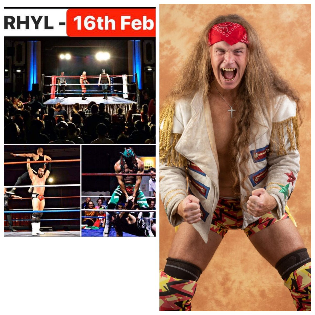 Come see me compete for welsh wrestling at the @RHYLPAVILION sunday 16th feb. Show at 4. I'd love to see you https://t.co/b6DKohFpm5