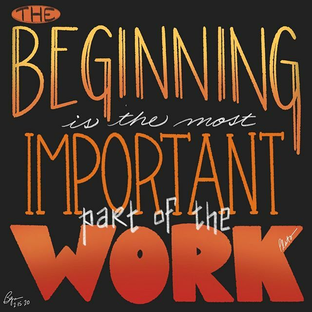 """The beginning is the most important part of the work."" (Plato)  #begin #work #beginning #getgoing #juststart #plato #lettering #wordart  #notice #illustration #visualart #visualverbal #art #artoftheday #quotes #everydayquotes #words #wordsofwisdom #word… https://ift.tt/2UTTH5a pic.twitter.com/MXoHVpDw8d"