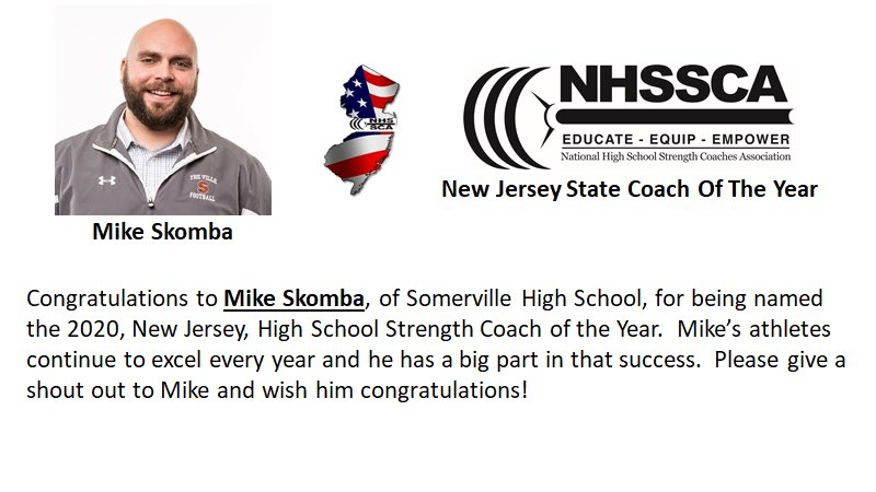 Congratulations to @VilleFootball Strength Coach & Head Freshman Coach being named NJ High School Strength Coach of the Year!