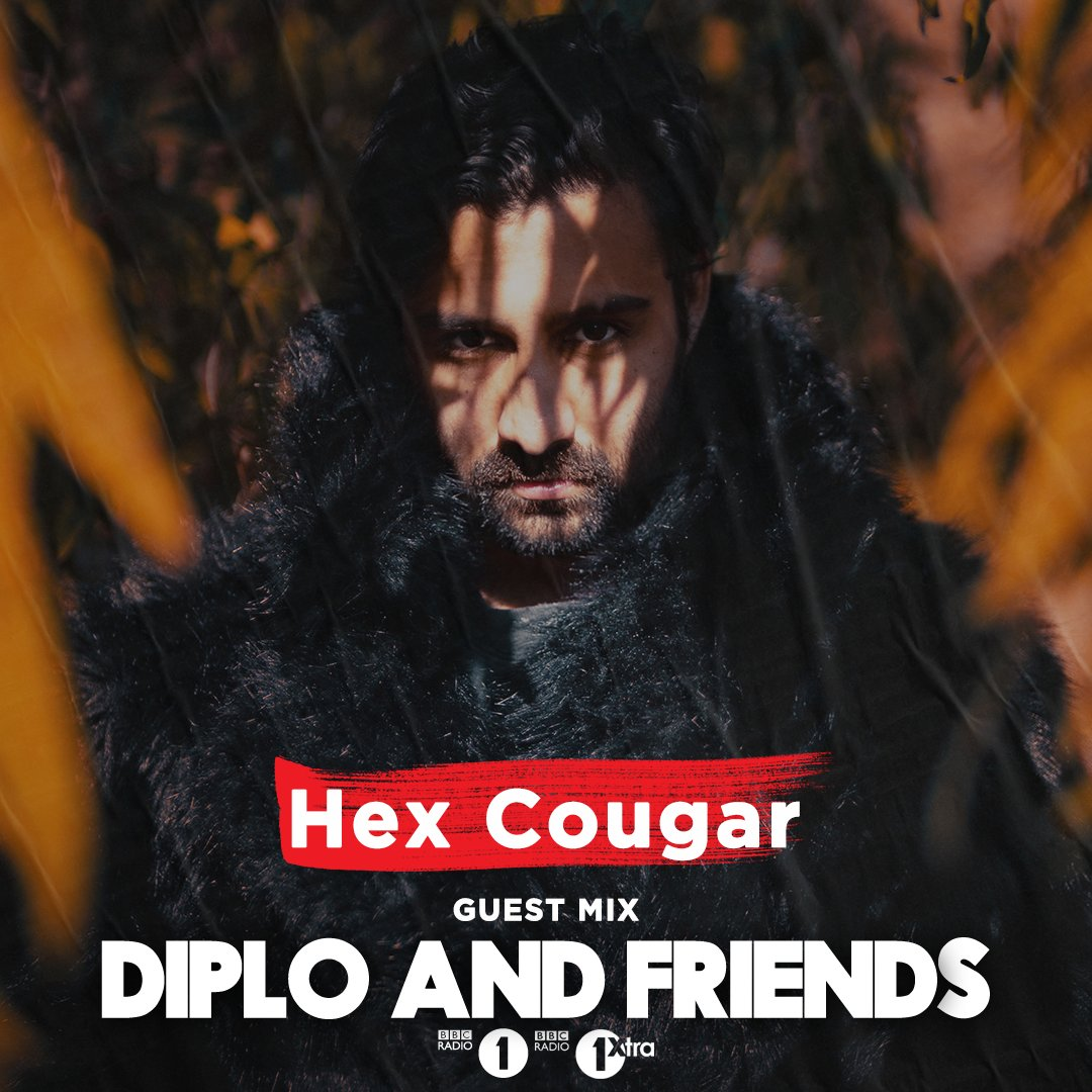 👉 We continue with rising LA producer @HexCougar who goes in deep with an hour of future underground sounds all in the mix for @Diplo and Friends! 🔊 bbc.in/38tDDLs Expect... @boysnoize @tydollasign @stormzy @KRANEmusic @clammyclams and loads more 🔥