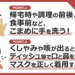 厚生労働省の新型ウイルスを含む感染症対策をまとめた日本語版のチラシです。