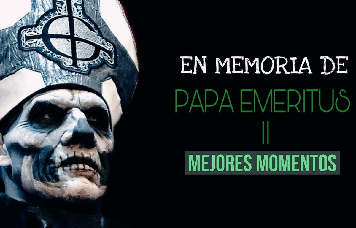 Algunos de los momentos más memorables de #PapaEmeritusII  en un nuevo video aquí https://youtu.be/CL0nmGcy0d8 #thebandghost @thebandGHOSTpic.twitter.com/wk09cj7n9D