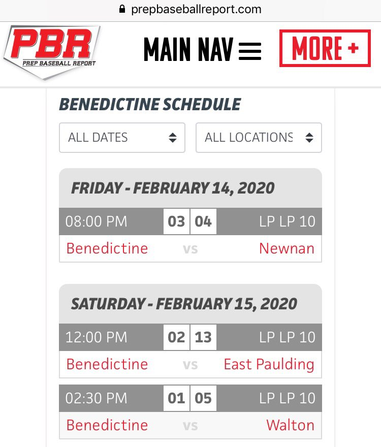 Benedictine Military School baseball results from today and last night. #thebc400 #Savannah