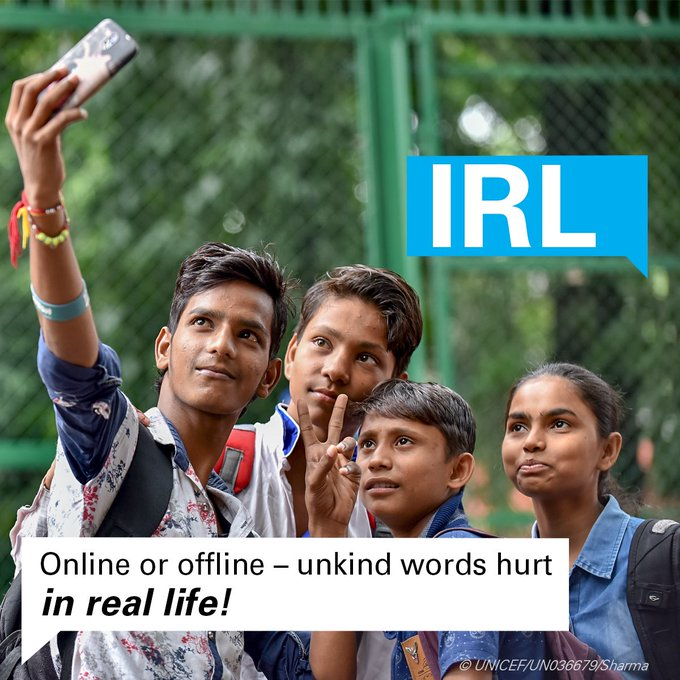 We all joke around with our friends, but sometimes it's hard to tell if someone is just having a bit of fun or trying to hurt others, especially online. Show respect and #StaySafeOnline! v/@unicefindia pic.twitter.com/hOFyVbfIQ3