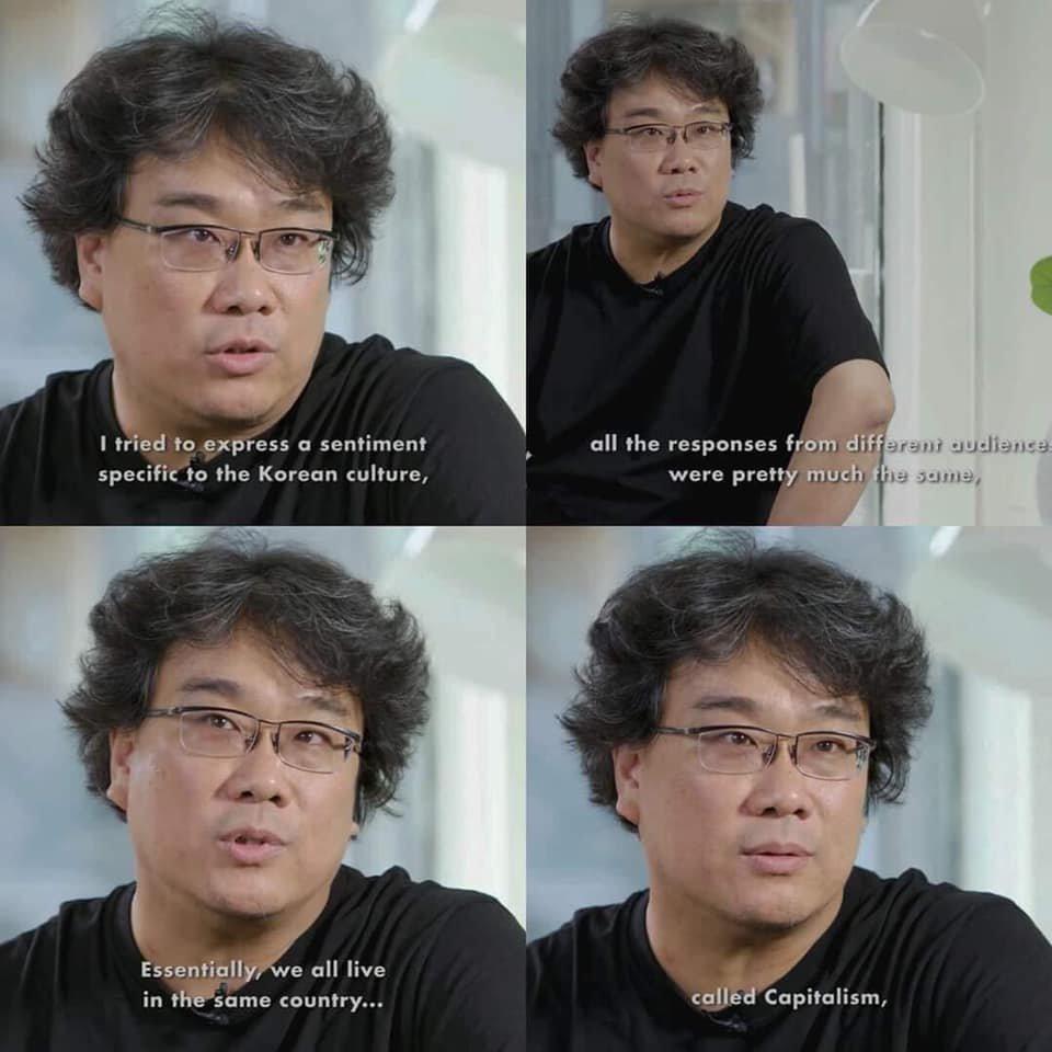 bong joon-ho said 'fuck capitalism' #parasite pic.twitter.com/EazlAhhEGA