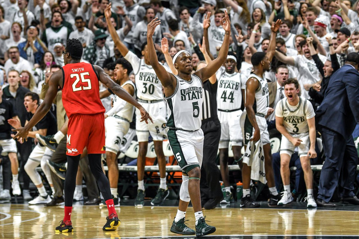 Photos of the highs and lows from MSU's loss to Maryland. bit.ly/2vEYSeU @LSJGreenWhite