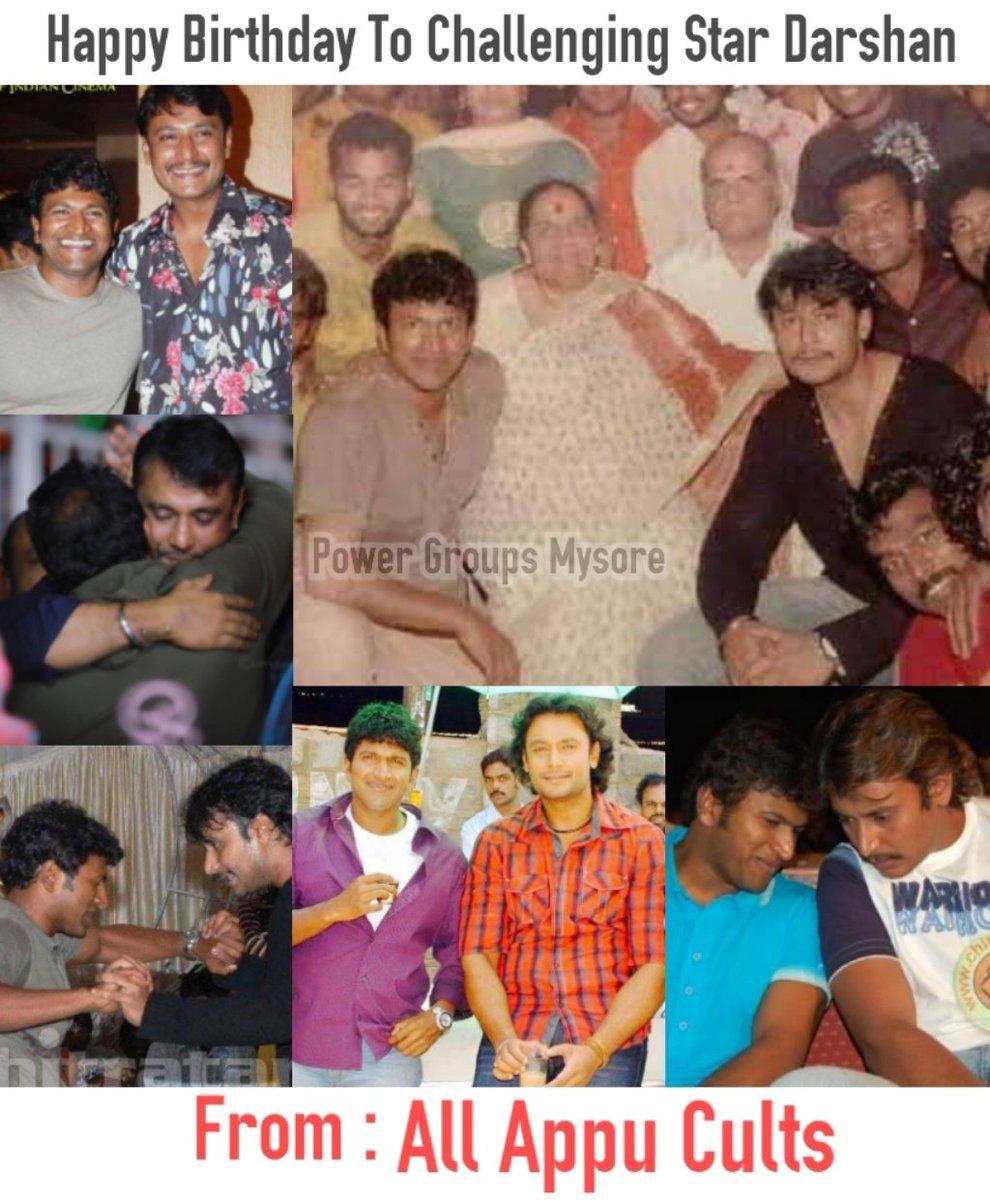Happy Birthday #Darshan sir on Behalf of #PuneethRajkumar sir Fans 🤗 All the best to #Roberrt ❤️ #HBDChallengingStarDarshan #HBDDarshanFromAppuFans #Darshan #Appu #PowerStar #PuneethRajkumar #PowerGroupsMysore