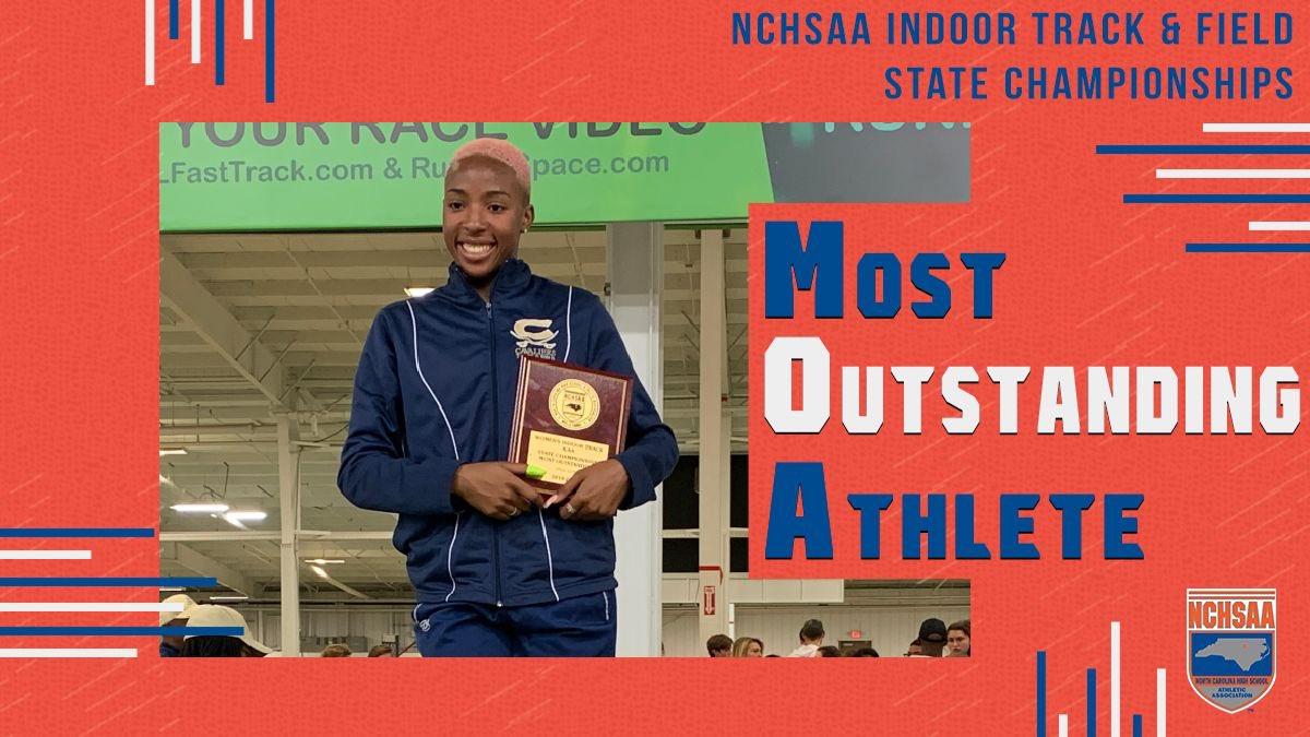 ⭐️1A/2A Women's Most Outstanding⭐️ 🏆Kendall Jordan @CummingsCavs #NCHSAAINDOOR