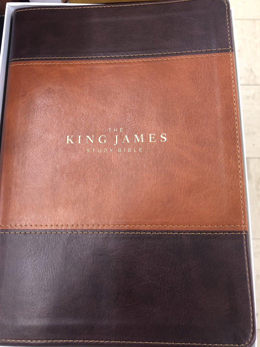 Thank you Mamma, for my new King James Bible.  It's the gift that keeps on giving!  #Inerrant #Infallible #Inspired #WordOfGod pic.twitter.com/j8qqO99sci