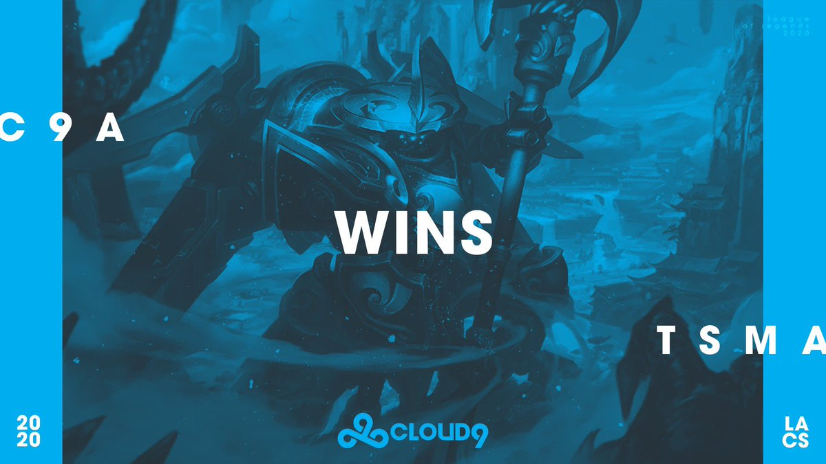 C9 2-0 TSM. It was a good day. #C9LACS take down @TSM to finish Week 4 of the Academy Spring Split 2-0! #C9WIN