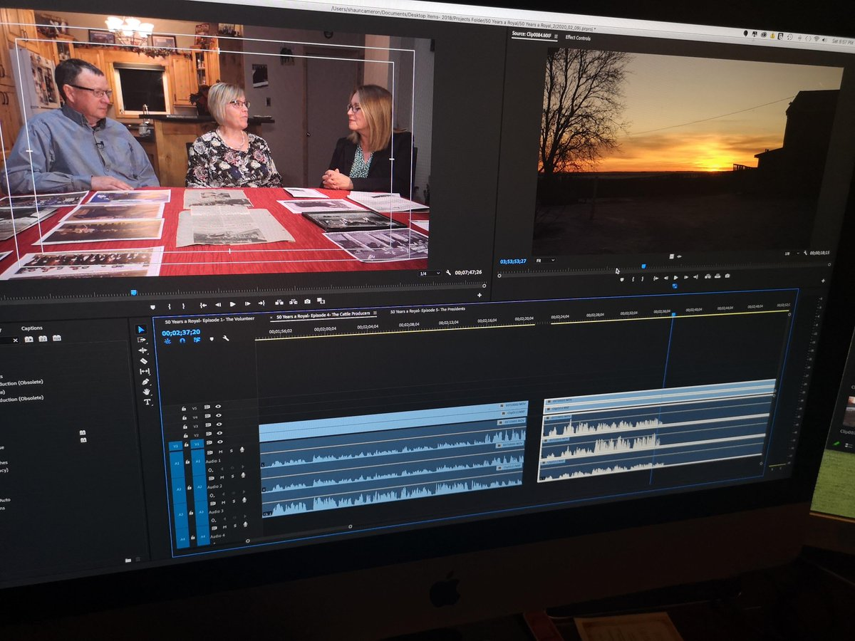Doing some editing tonight on a fun project ahead of the Provincial Exhibition of Manitoba #PresidentsDinner2020. Had a blast teaming up with Karen Chrest, Graham Street, Brent Miller, Ron Kristjansson and Greg Crisanti to bring this series together. #bdnmb #TVProductionpic.twitter.com/9pmE1VGURZ