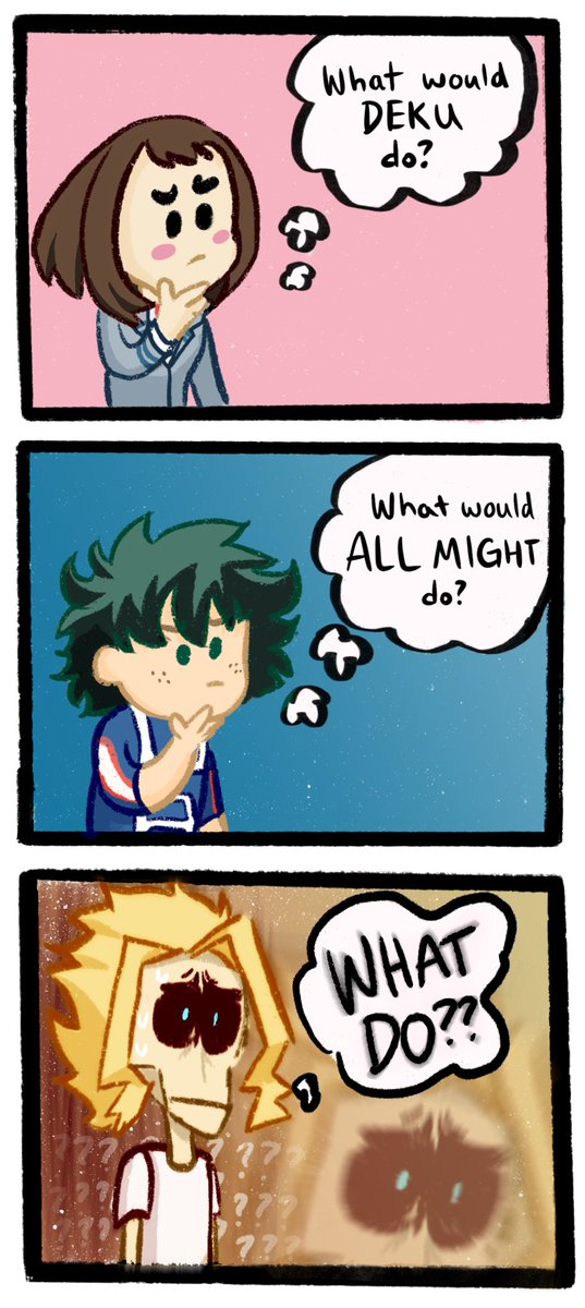 I had this idea for a comic so here you go. Thats it that's the show #myheroacademia <br>http://pic.twitter.com/Lb6UogI2SI