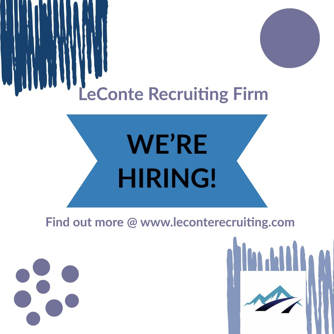 LeConte Recruiting Firm has Direct Hire positions across the country #leconterecruiting #recruiting #engineeringcareers #wearehiring #jobsearch #hiring #careers #resumebuilder #careergoals #career #recruiting #careerchange #resumetips #interviewtips #hiringnow #jobsearch #jobspic.twitter.com/8xgCOq5S0f