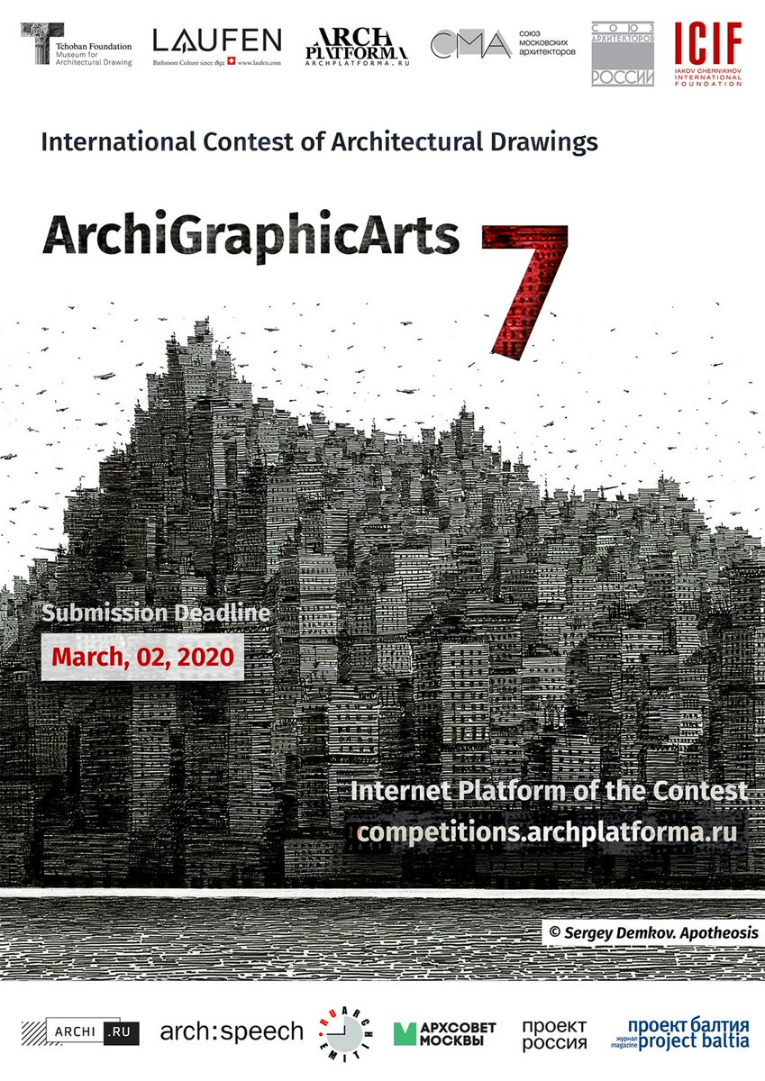 Open Call: ArchiGraphicArts 7 / International Contest of Architectural Hand Drawings https://www.archdaily.com/932967/open-call-archigraphicarts-7-international-contest-of-architectural-hand-drawings?taid=5e48c1e26e49630001baa9fd&utm_campaign=trueAnthem%3A+Trending+Content&utm_medium=trueAnthem&utm_source=twitter…pic.twitter.com/NsEqp4j6Yt