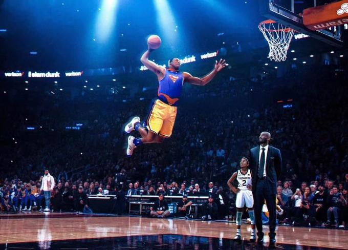 【影片】淚目!超人身穿24號回來了,魔獸在灌籃大賽致敬Kobe,老大和Gigi看到了嗎?