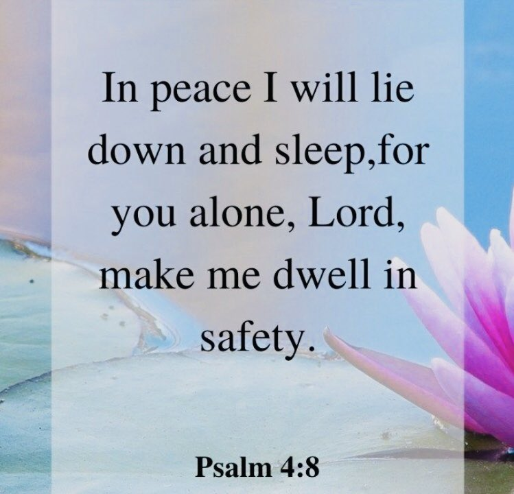 Amen! #Godspeace #Godmyshelter #sleepinpeace #believe #WordofGod #wieldtheswordministrypic.twitter.com/gkx5GrYHmP