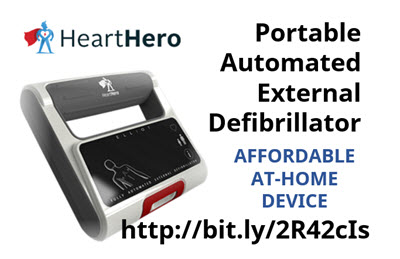 #HeartHeroAED HeartHero Portable #AED http://bit.ly/2R42cIs  #emergencymedicine #Cardiology #medicadevice #digitalmed #medtech pic.twitter.com/ZtkmGtWTYV