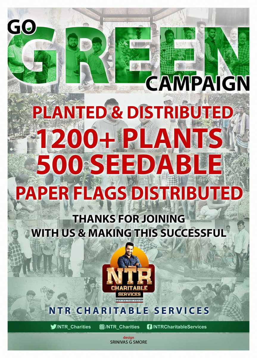 Its been 1month since we started Go Green 🌱 Campaign. This is our progress report. We like to continue campaign till May 20th. @tarak9999 #PlanToPlantAGreen