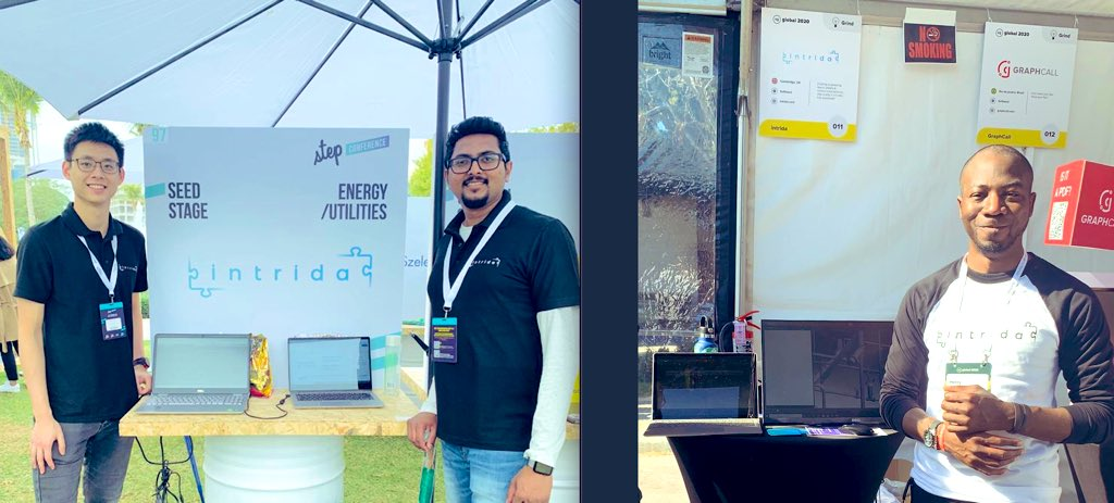 On 2 continents, in 2 major events, in 2 exhibitions, same day, same message..1 team. We pulled it off! Super proud of my 'All Star' @intrida team for successsfully showcasing our tech platform and concepts in both #step2020 Dubai and @StartupGrind #SiliconValley #startuplife https://t.co/Nyp1YLbQtJ