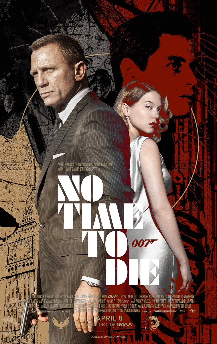 """Ivern on Twitter: """"'Orbis non sufficit.' Movie Poster for the next James  Bond Movie featuring Daniel Craig on No Time To Die @007. #NoTimeToDie  Likes and feedbacks are highly appreciated! https://t.co/ETQsf7HQwG…  https://t.co/ccgG70dTpR"""""""