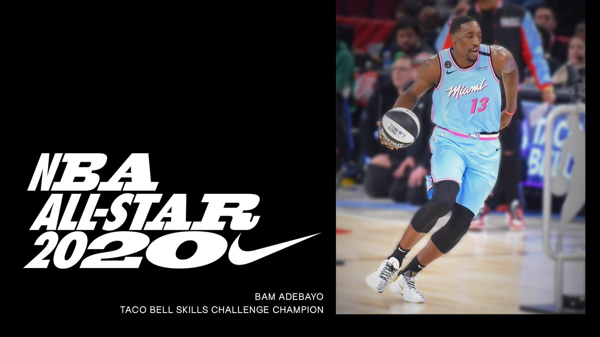Who said a power forward can't be most skilled?⠀Congratulations to the Taco Bell Skills Challenge Champion @bam1of1. #NBAAllStar #Nike