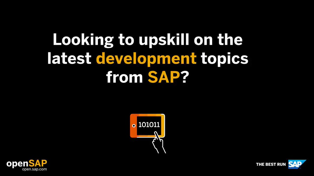 Calling all #SAP #developers! Check out these free #MOOCs to get the latest knowledge across a variety of topics at #openSAP http://sap.to/60121i2Zk