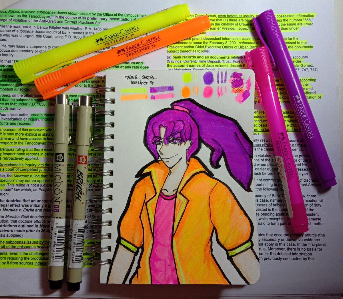 Took a break from studying...  #art2020 #artoftheday #art #artist #artph #artwork #artlover #arts #drawingoftheday #drawingsketch #drawings #drawsomething #pens #highlighter #textliner #fabercastellpic.twitter.com/L105NpD9RR