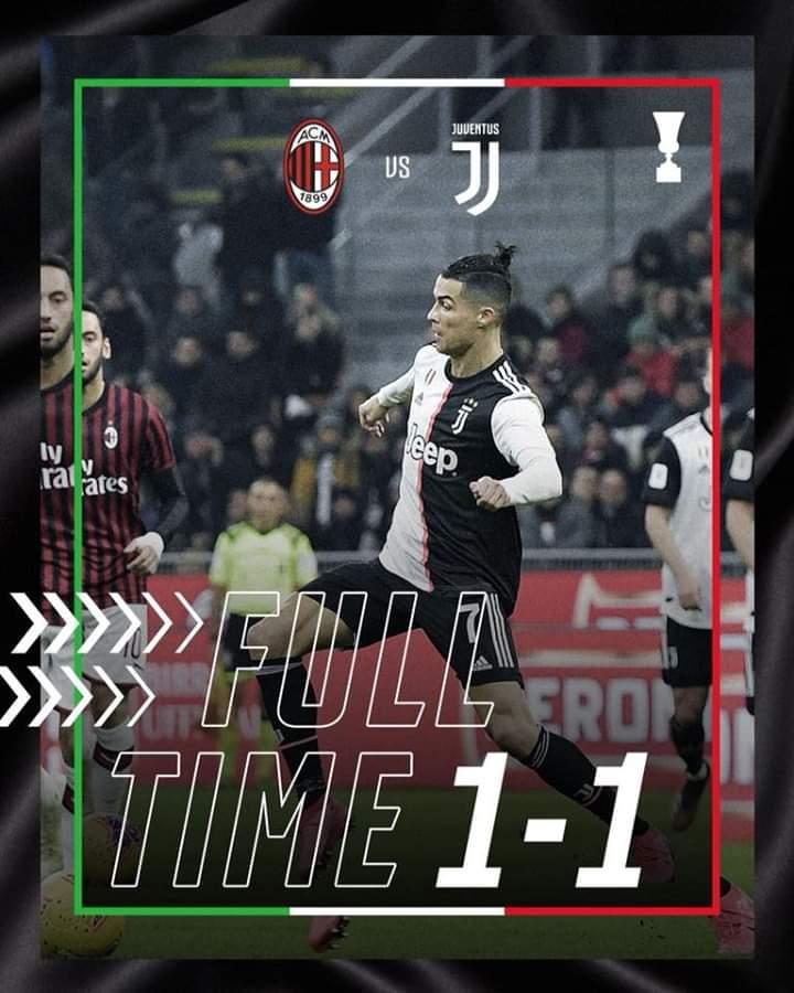 #MilanJuve @juventusfc #CoppaItalia #LiveAheadAncora una brutta Juve, salviamo solo il risultato e qualche buona giocata di CR7. Ma così non va...per il momento è una squadra priva di sicurezze...#FinoAllaFine 🦓⚪⚫