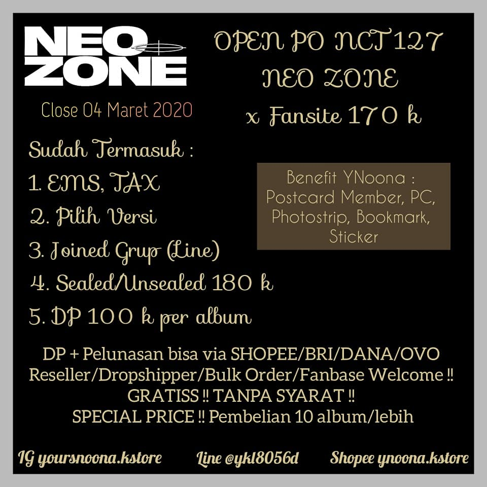 [HELP RT]OPEN PO NCT127 NEO ZONE 170 k DP VIA SHOPEE https://shopee.co.id/product/55006338/6017203376?smtt=0.0.9…Detail & Order : Line @ykl8056dIG yoursnoona.kstore#NCT127_KickIt #NCT127 #NeoZone #NeoZone_KickIt #KickIt  #NCTzenSelcaDay #NCTzens