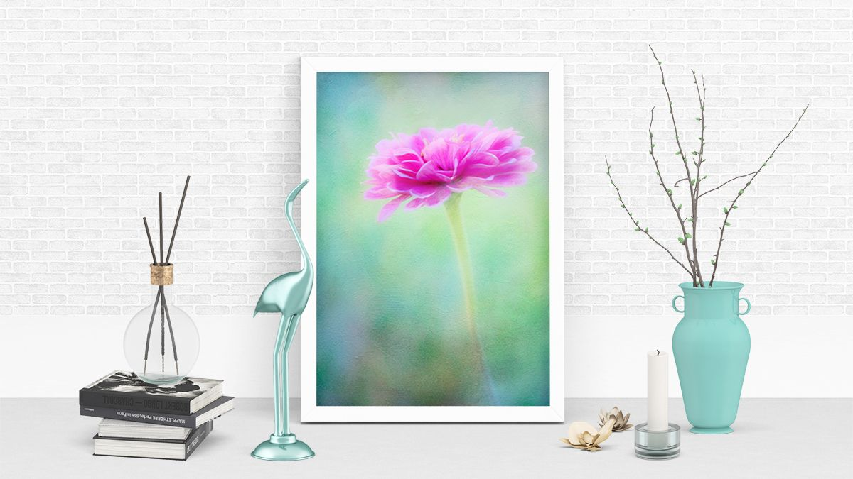 """(22) Anita Pollak on Twitter: """"Brighten up your home decor with """"Painted Pink Zinnia"""" framed print by Anita Pollak. https://buff.ly/38xo2dE #zinnia #flowers #publicGarden #photopainting #pink #summer #floral #blooms #colorful #wallart #framedPrints #homeDecor #macro #photoart"""