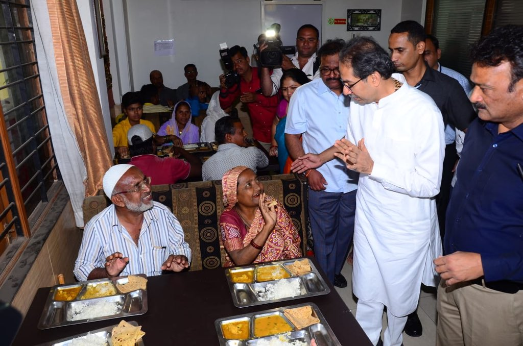 A way to a person's heart is through his/her stomach & those smiles are all hearts for CM Uddhav Balasaheb Thackeray, when he visited one of the Shivbhojan centres in Nashik to sought feedback on taste, quality, arrangements, sanitation & availability of Shivbhojan.
