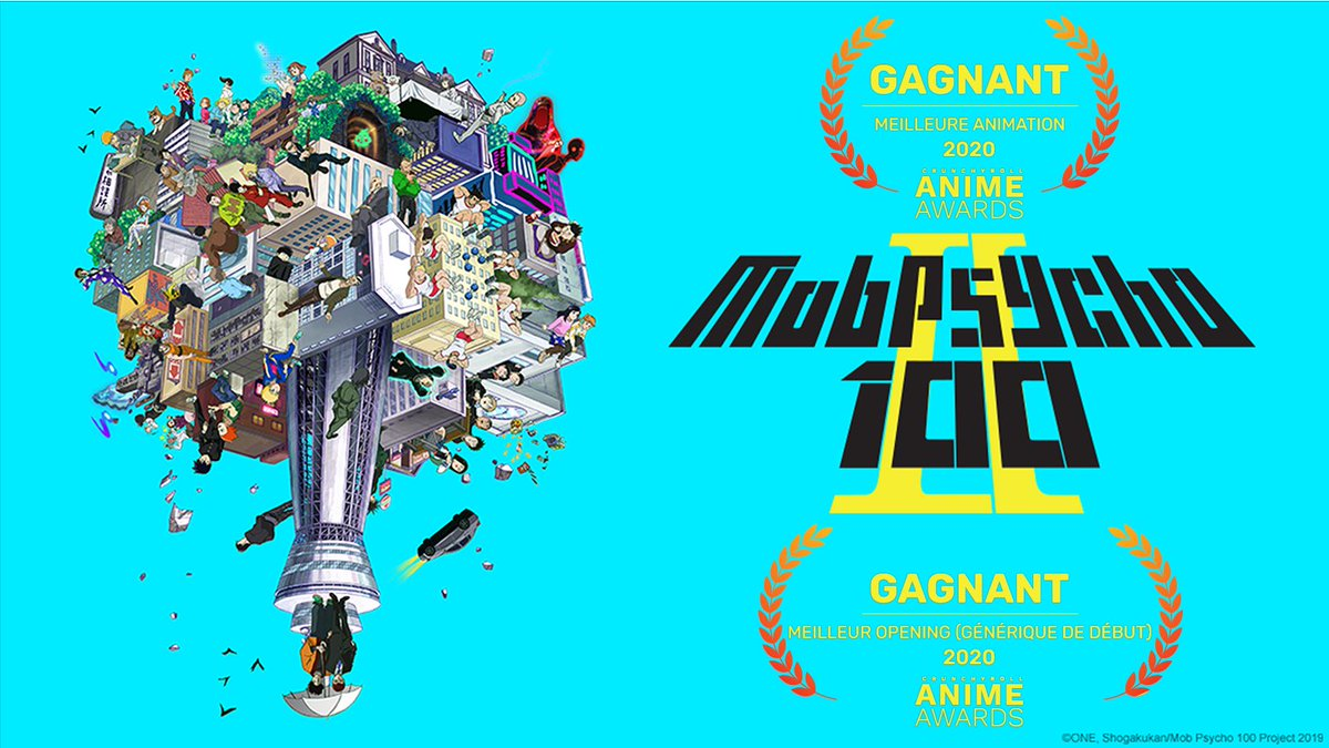 The MOB is high !! Meilleure Animation et Opening  Bravo Mob Psycho 100 II  #AnimeAwards <br>http://pic.twitter.com/TFlL5JOZhQ