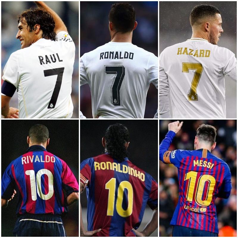 Which Trio Do You Choose? Real or Barca?  #Footballmemories #RealMadrid #RMCF#forçabarça #visçabarça #VamosReal #HalaMadrid #barça #vamosbarca #blaugrana #messiskills #wecolorfootball #viscabarca #leomessifans #teammessi #teamronaldo #realmadridcf #rivaldo #ronaldinho #hazardpic.twitter.com/S4SLJeiRpa