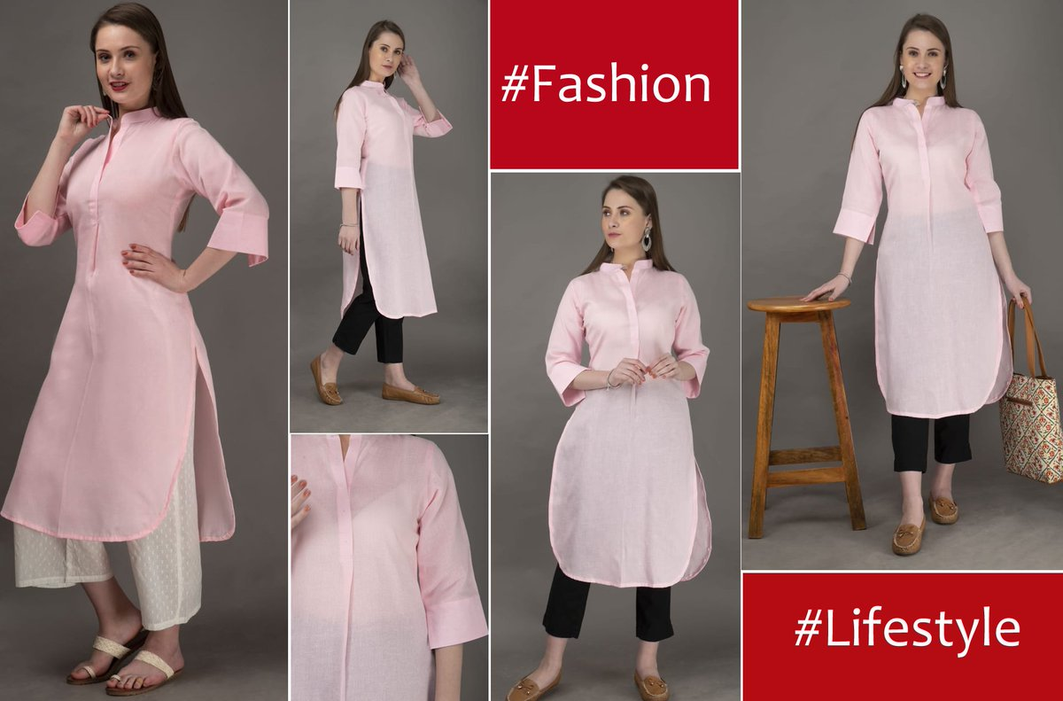 Baby Pink Collar Pintuck Kurti with Offwhite Self Weaved Cotton Palazzo - Limited Stocks COD Available  Buy Now: http://ow.ly/APD050yncWH  #pinksuit #Womensuit #womenfashion #Panchnaina #LimitedStocks #womensuit #womensuit2020 #womensuitspic.twitter.com/37hQNczljo