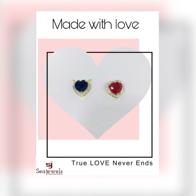 #CustomisedPendant#monthoflove#Red#Blue#Diamonds#Gold#valentinesweek  #seajewels#DesignerStudio#bykothari's#priyankakothari ... ... ... #jewelryoftheday#instajewelry#Designer#jewelrydesign #jewelrystore #diamondsforever#customisedjewellery#gold#mumbai