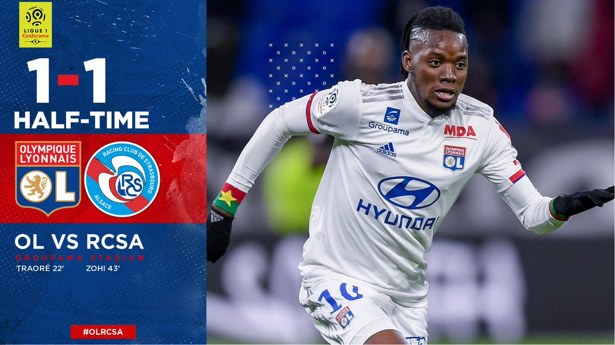 HT: #OLRCSA is level at the break.