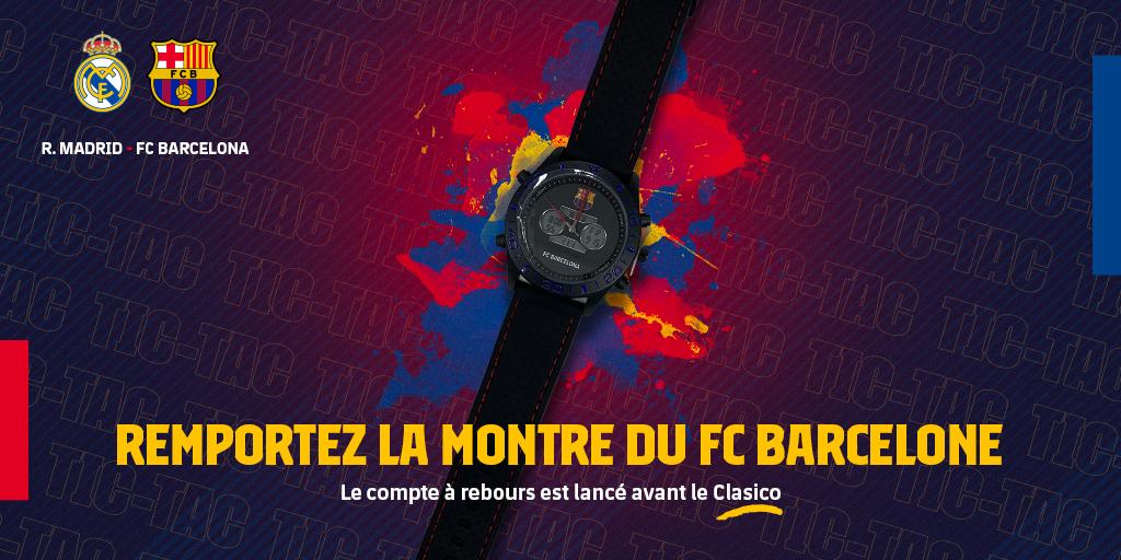 ⏳ #ElClásico Le compte à rebours est lancé ! Il ne reste que 1⃣4⃣ jours  Remportez la montre du FC Barcelone et comptez les minutes qu'il reste avant de vibrer devant le Clasico !  🔵🔴  👇 Participez au tirage au sort👇 http://barca.link/Mns230qaMts