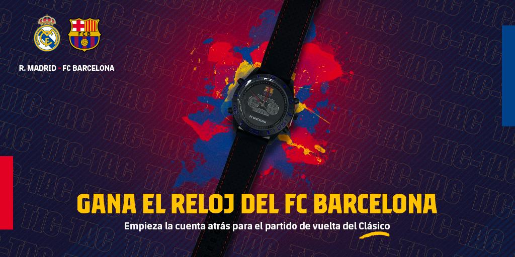⏳#ElClásico Empieza la cuenta atrásQuedan 1⃣4⃣ díasGana el reloj del FC Barcelona y cuenta los minutos que faltan para disfrutar del Clásico 🔵🔴👇 Participa en el sorteo 👇http://barca.link/vosC30qaMte