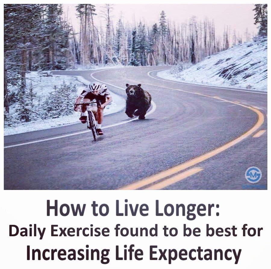 How to live longer? Daily Excercise found to be best for Increasing Life Expectancy  #daily #excercise #sports #lifestyle #dailymemes #medicalmemes #bestforyou #health #healthylifestylepic.twitter.com/nhrsSYnY6l