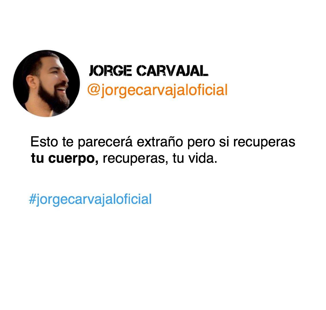 Pequeños cambios como el ejercicio o comer mejor harán la diferencia.  . Jorge Carvajal /    . ¿+ motivación? Sígueme en IG: https://www.instagram.com/jorgecarvajaloficial/…    . #jorgecarvajal #jorgecarvajaloficial #frasesdemotivacion #motivacionpersonal #motivación #motivacionpic.twitter.com/hLsAB4ENZN