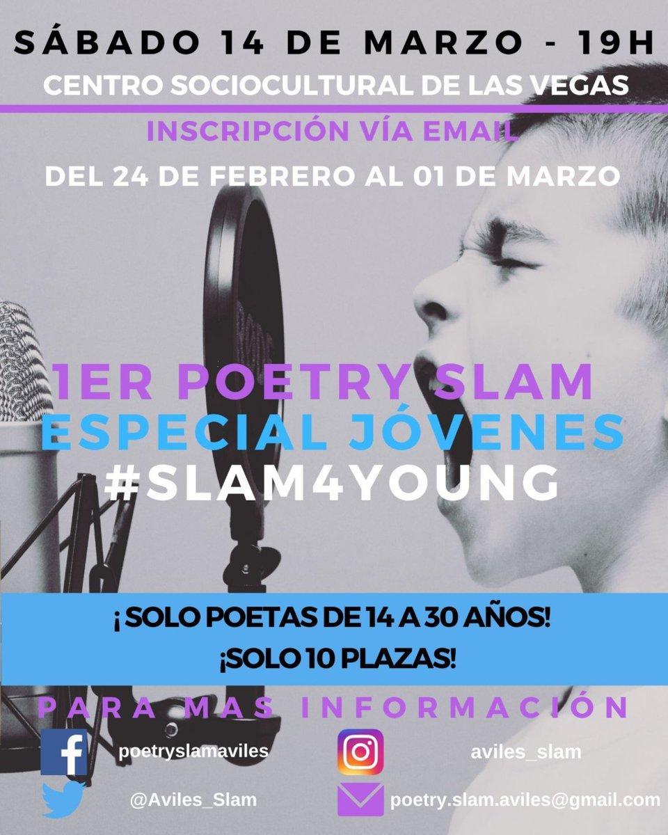 Buenas, os anunciamos que el #14M realizaremos nuestro primer #slam4young en el CSC de Corvera. No te lo pierdas!! Creando cantera!! #civilslammemewar #nuestroaviles #slamaviles #poetryslam #poesía #noquedanada #Asturias #Avilés #Corvera #mafiaslam #slamnews #poetryslamespañapic.twitter.com/sGKxyw0Nq7