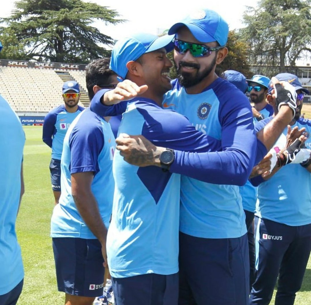Happy birthday my brother. Wishing you nothing but the best. @mayankcricket Hope you are actually as innocent as your smile in the next year. 😈 #bromance