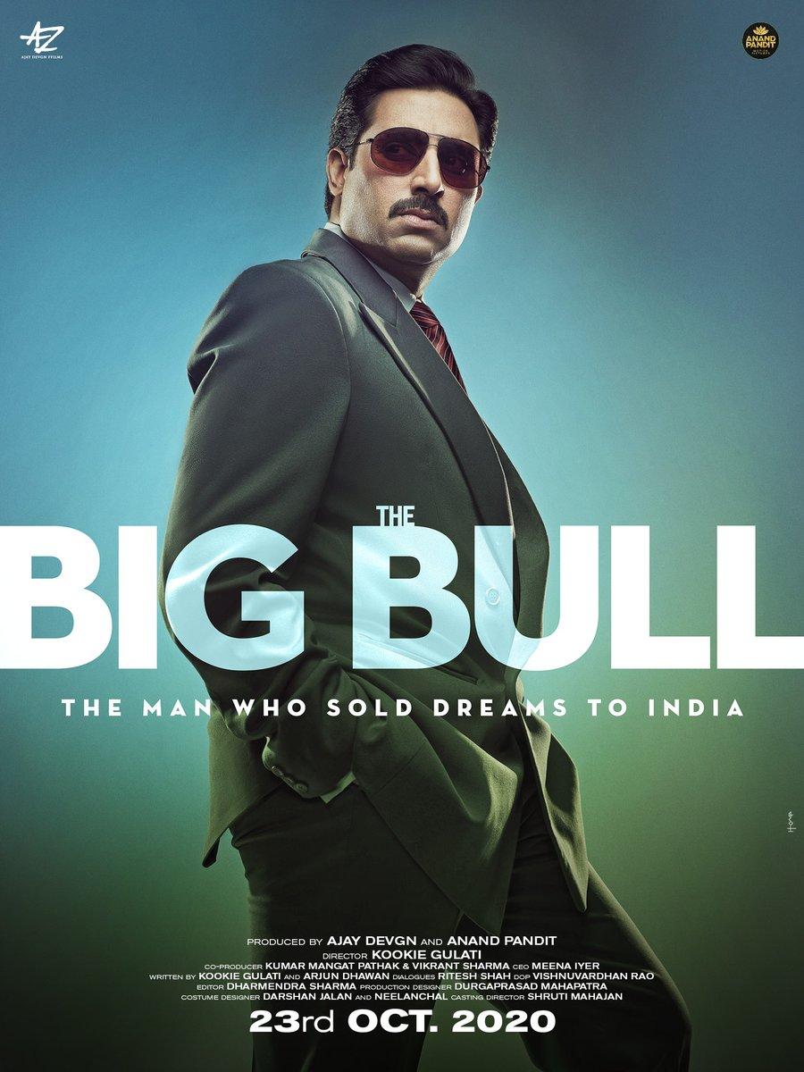 #AbhishekBachchan's #TheBigBull movie new poster! Directed by #KookieGulati! Movie in theatres from 23rd Oct 2020!