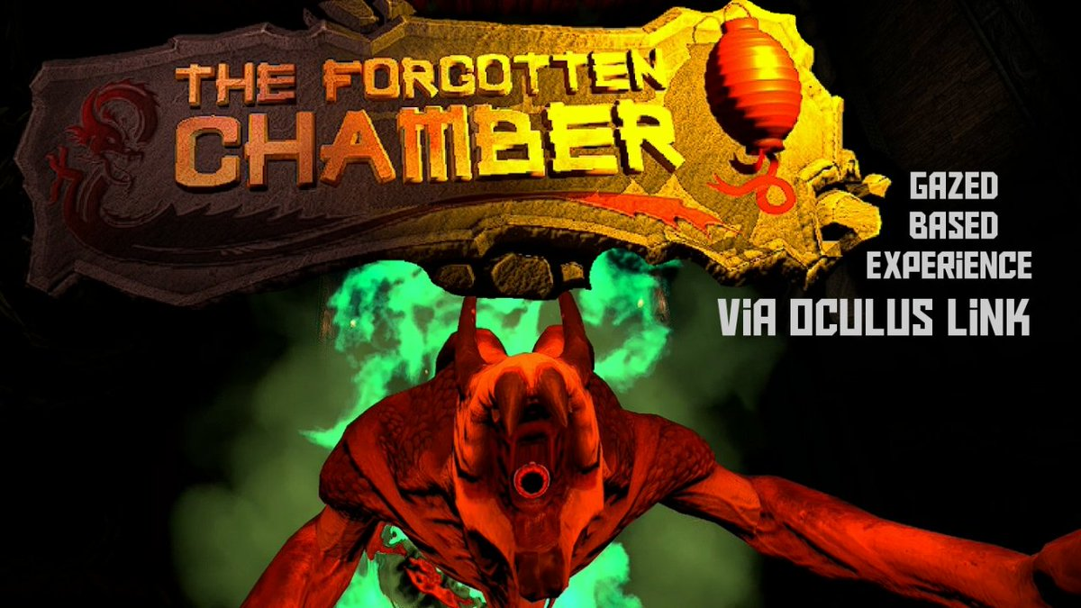Hey folks its your boy Taz Yessss again  hehehehe  Gotta love the VR baby hell yeah.  Heres a gaze based VR experience via #OculusLink  Take a look it's called The Forgotten Chamber and its brought to us by @ArchiactVR  Its done using binaural audio  Enjoy