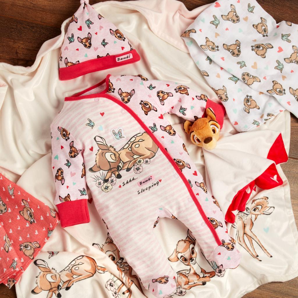 Shhh! Bambi is sleeping 🦌❤️ Sleepsuit & Hat £7/€10/$10, Accessories from £4/€5 #Primark #PrimarkXDisney