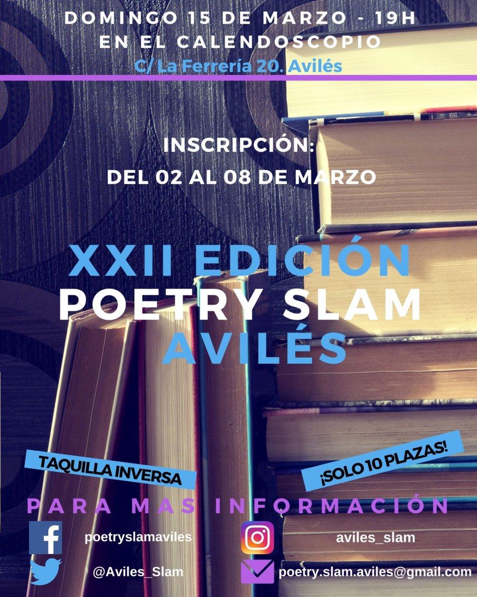 hola #slammilia, ya tenemos fecha para #slamaviles22. Será el último slam regular de la temporada, y lo celebraremos el #15M #civilslammemewar #nuestroaviles #slamaviles #poetryslam #poesía #noquedanada #Asturias #Avilés #mafiaslam #slamnews #poetryslamespañapic.twitter.com/MZGhQSccpM