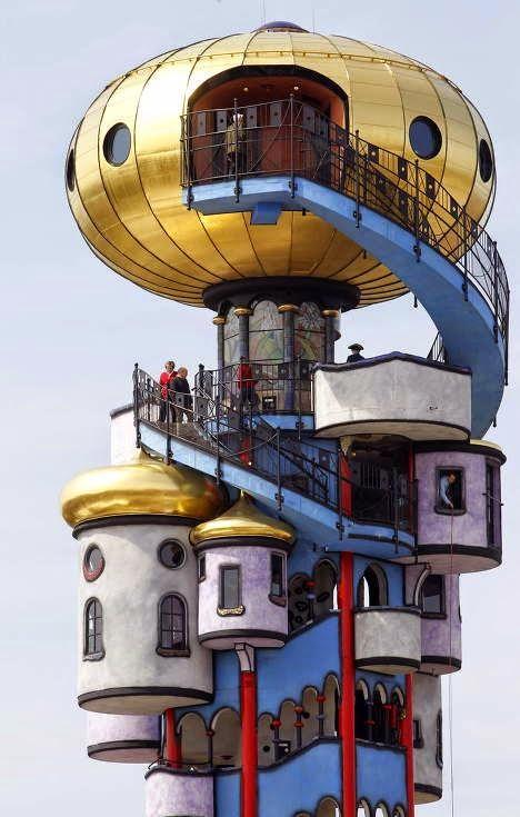 Hundertwasser tower, Abensberg - Germany pic.twitter.com/qsPOOlGZqS