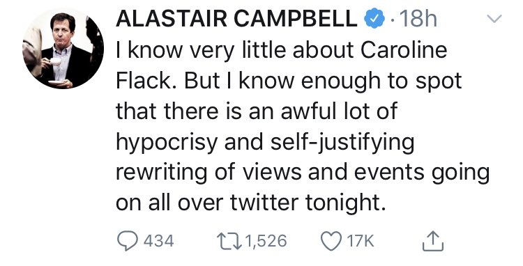 Alastair Campbell rebranding as a mental health campaigner after the death of Dr David Kelly really assumes none of us have the slightest memory of the 2000s.